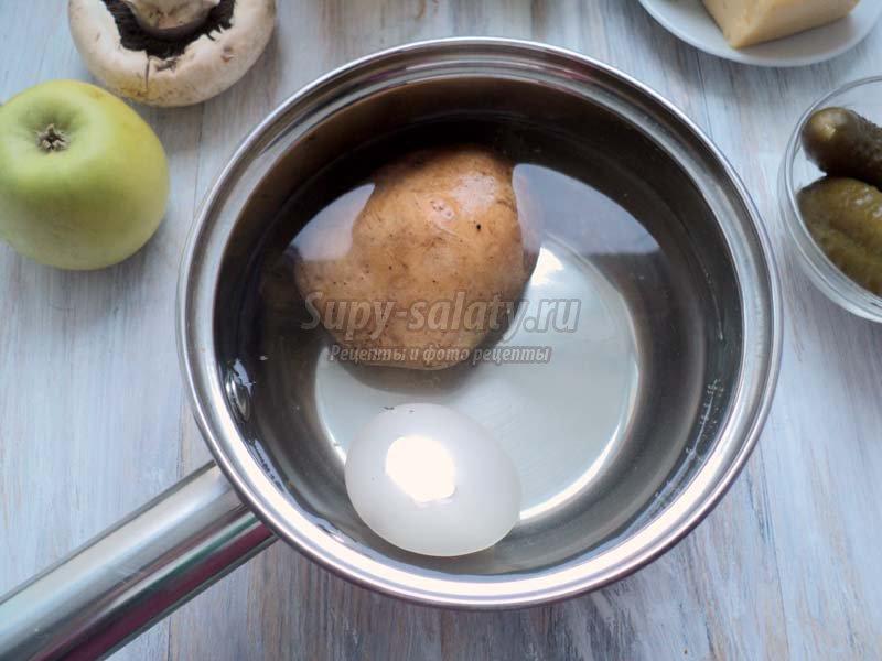 Салат из свежих грибов рецепт с фото очень вкусный