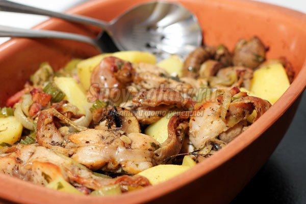 Картошка с грибами в духовке: лучшие рецепты с фото.