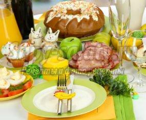 Пасхальный стол: ТОП -10 популярных блюд и оформление!