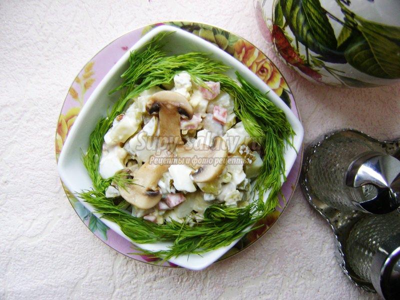 салат грибы картофель огурец