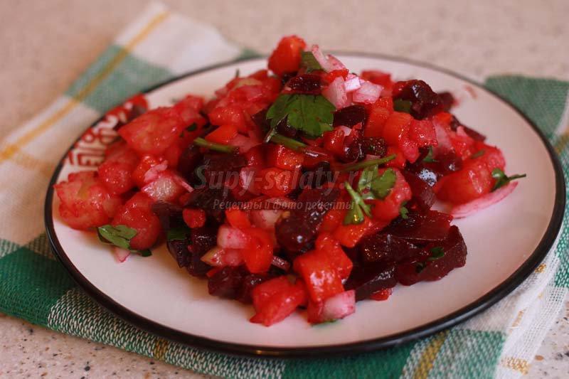 салат из овощей рецепт