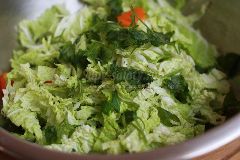 Рецепты салатов с капустой пекинской