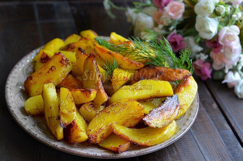 картофель запеченный в рукаве в духовке
