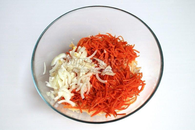 рецепт салата с курицей и корейской морковью