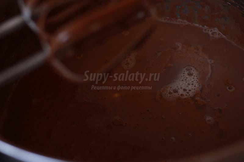 шоколад на кипятке торт рецепт