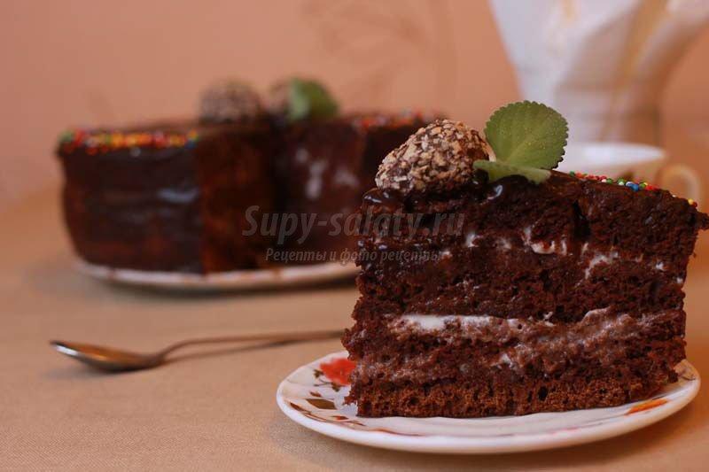 торт шоколад на кипятке в мультиварке