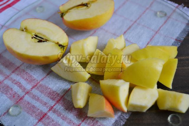 тыква с яблоком в духовке