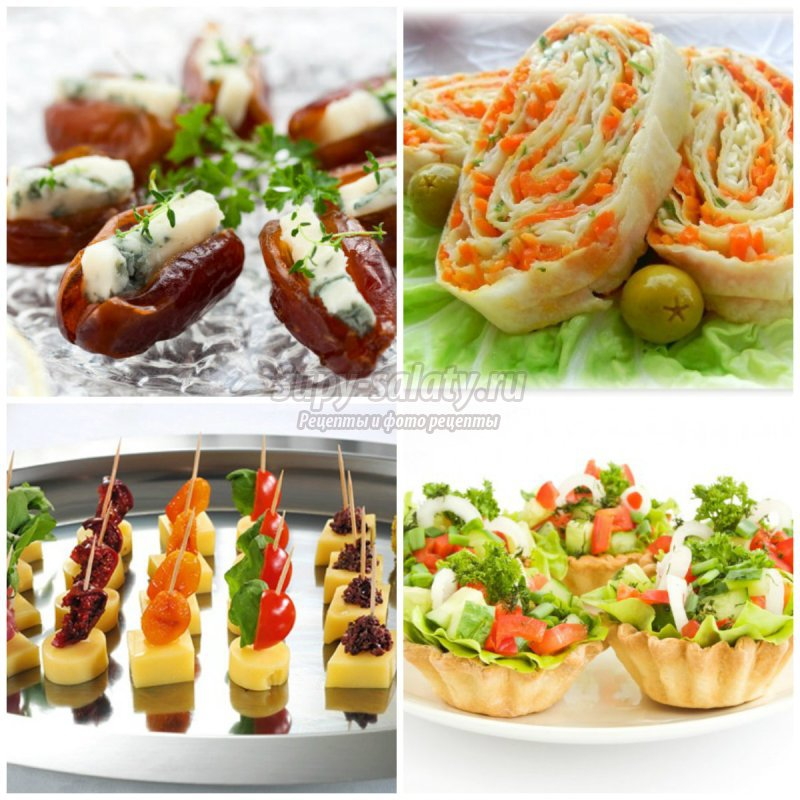 Простые рецепты салатов и закусок на день рождения простые и вкусные с