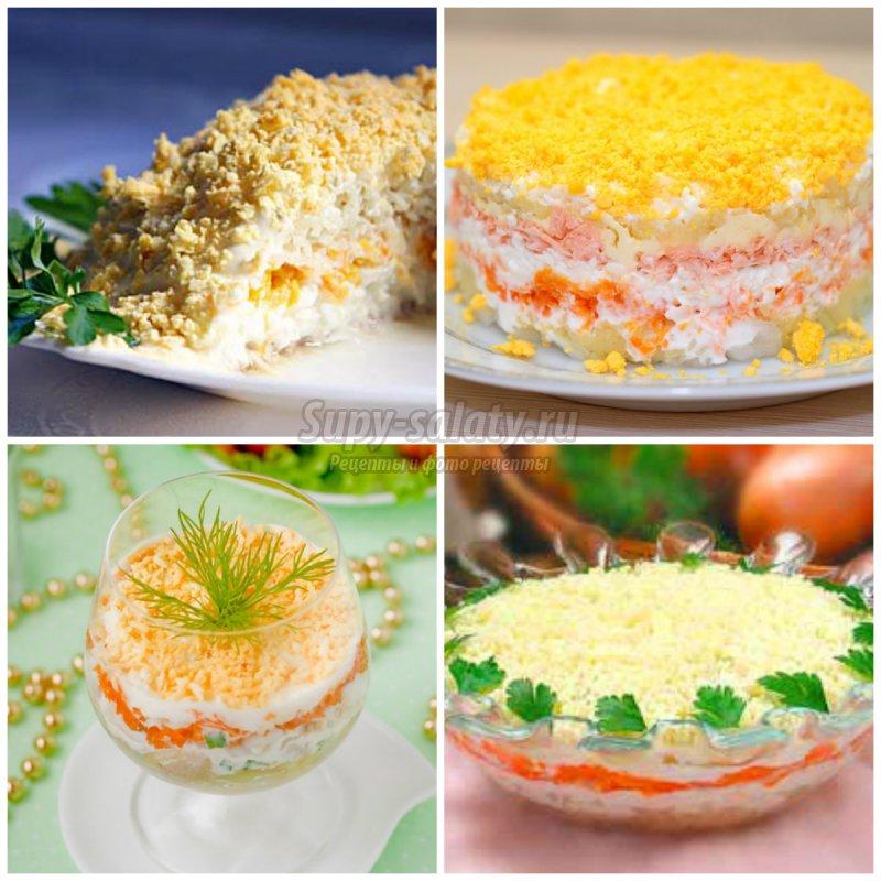 Рецепт салата мимоза с сайрой классический с пошагово