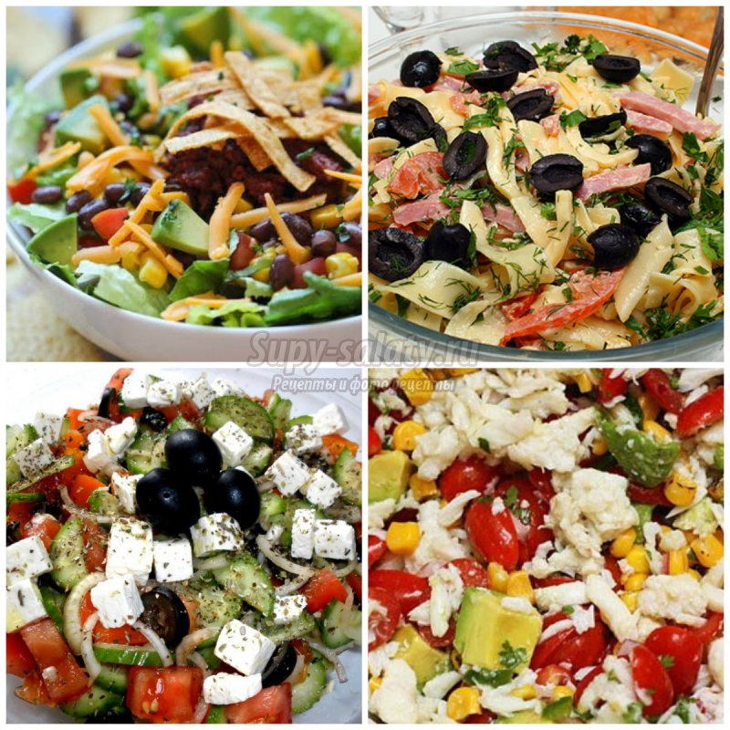 Летние салаты рецепты на каждый день