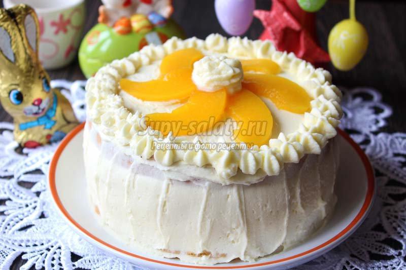 персиковый торт рецепт с фото