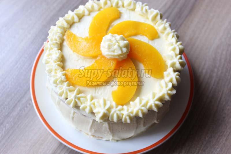 персиковый торт фото