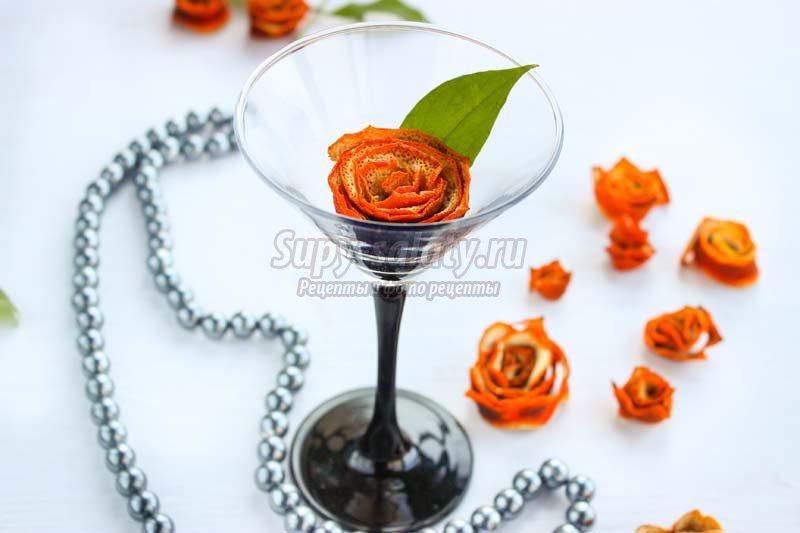 роза из апельсина