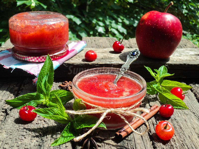 джем из яблок и вишни