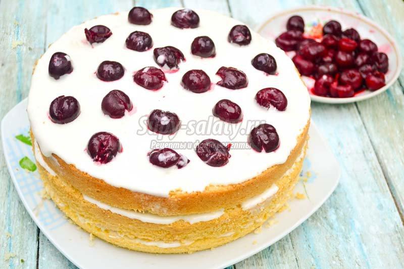 шоколадно вишневый торт рецепт с фото