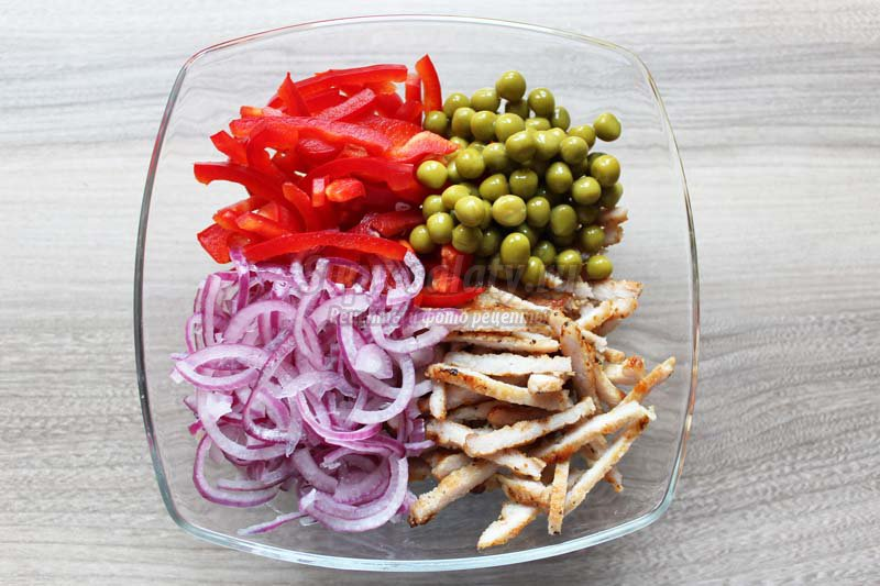 салат из перца с мясом