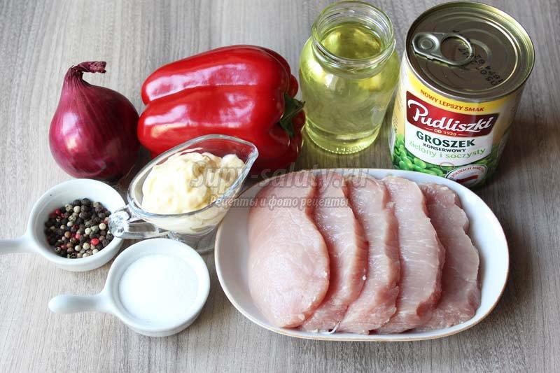 салат с мясом и болгарским перцем