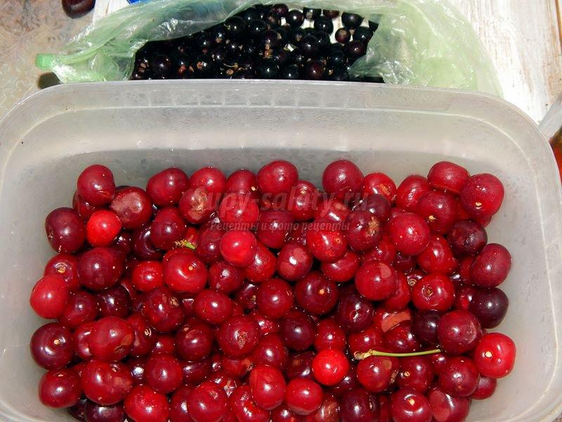 Варенье из вишни и смородины