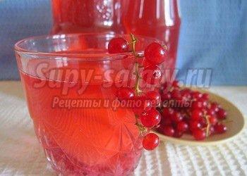 компот из красной смородины и персиков
