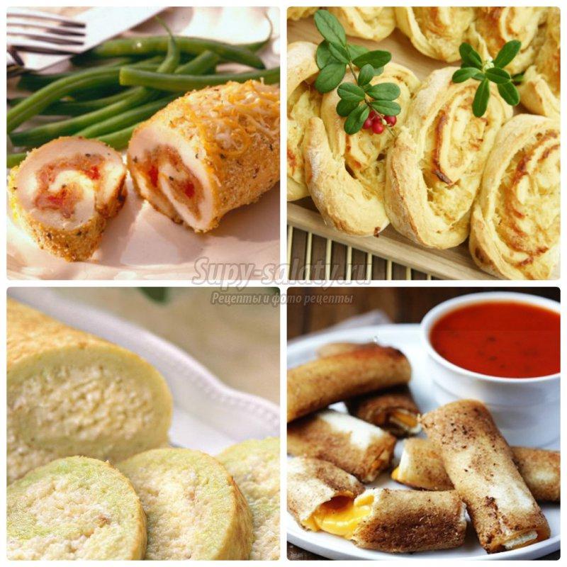 Рулетики с сыром: подробный рецепты с фото