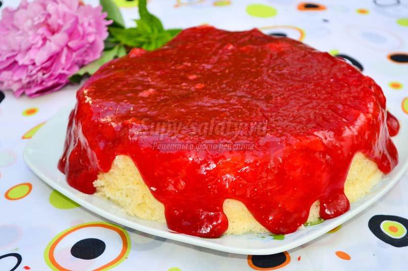 клубничный торт в мультиварке рецепты с фото