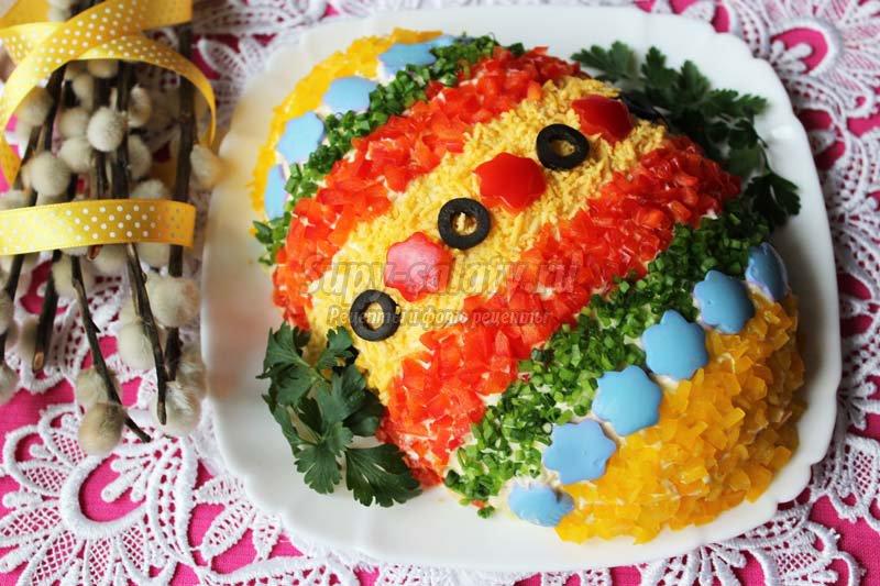 салат пасхальное яйцо рецепт