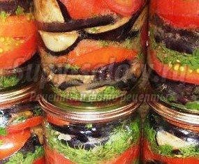 Баклажаны с помидорами на зиму: лучшие рецепты с фото