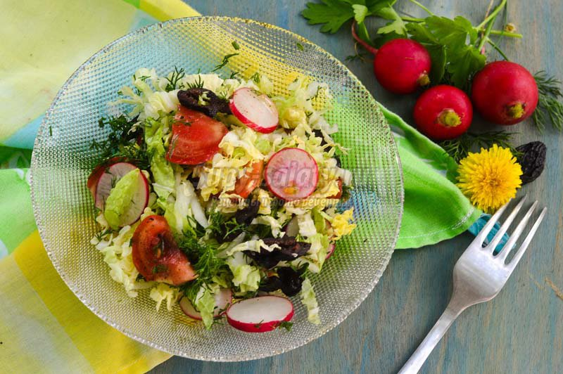 как делать салат овощной рецепт