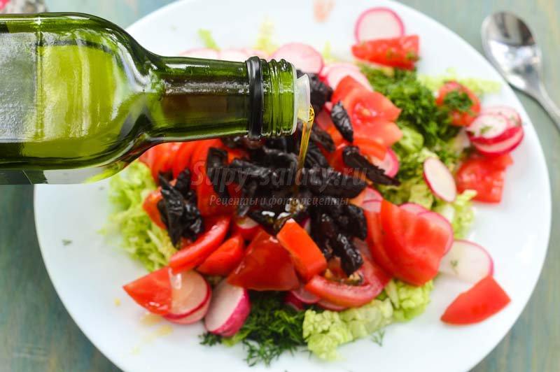 овощные салаты черносливом