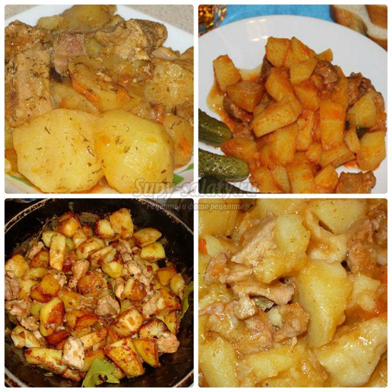 Как тушить картошку с мясом курицы