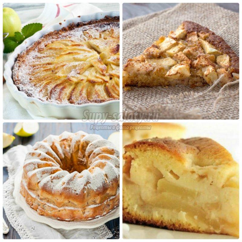 шарлотка с яблоками: рецепты в духовке с пошаговыми фото.