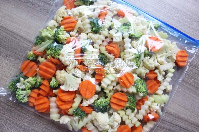 как заморозить овощную смесь на зиму