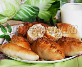 Пирожки с капустой в духовке: рецепты с фото.