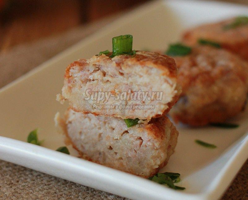 котлеты из куриного фарша с гречкой рецепт с фото