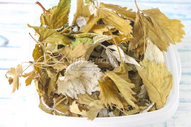 чай сушеных листьев
