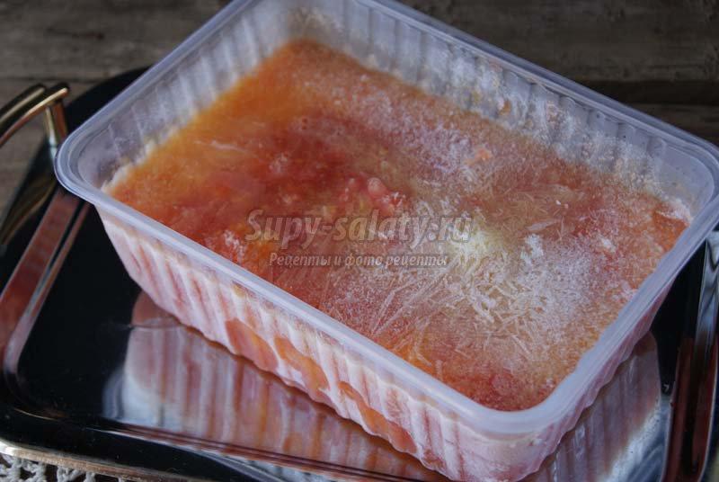 как заморозить свежие помидоры