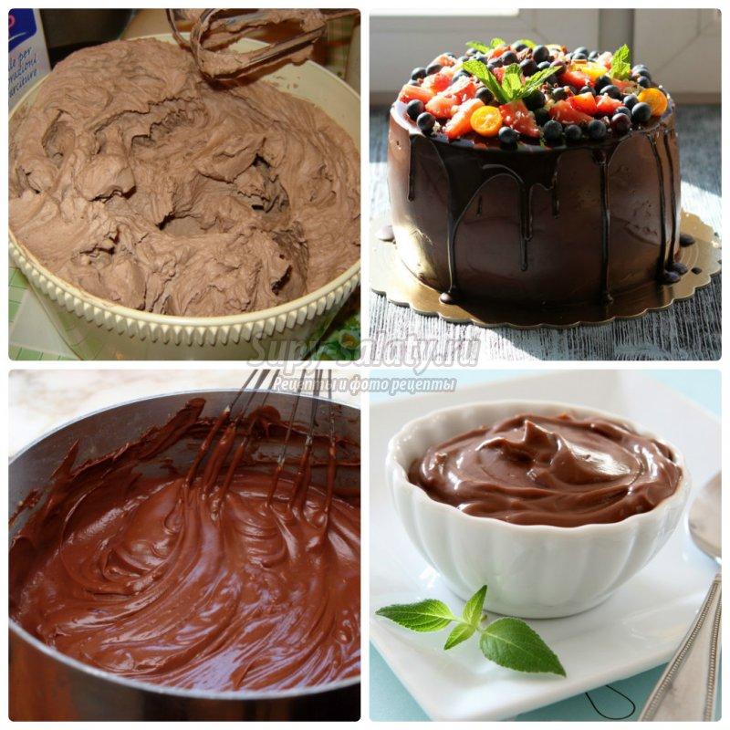 Крем с шоколадом для бисквита