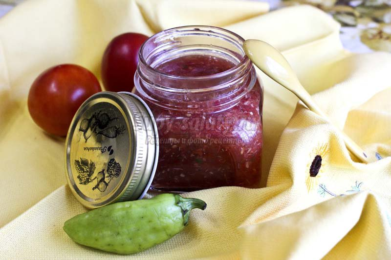 аджика из томатов на зиму