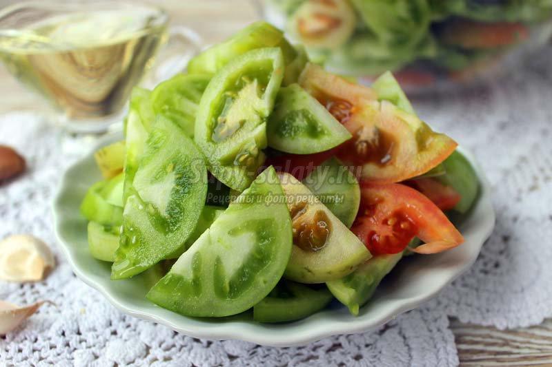 закуска из зеленых помидор