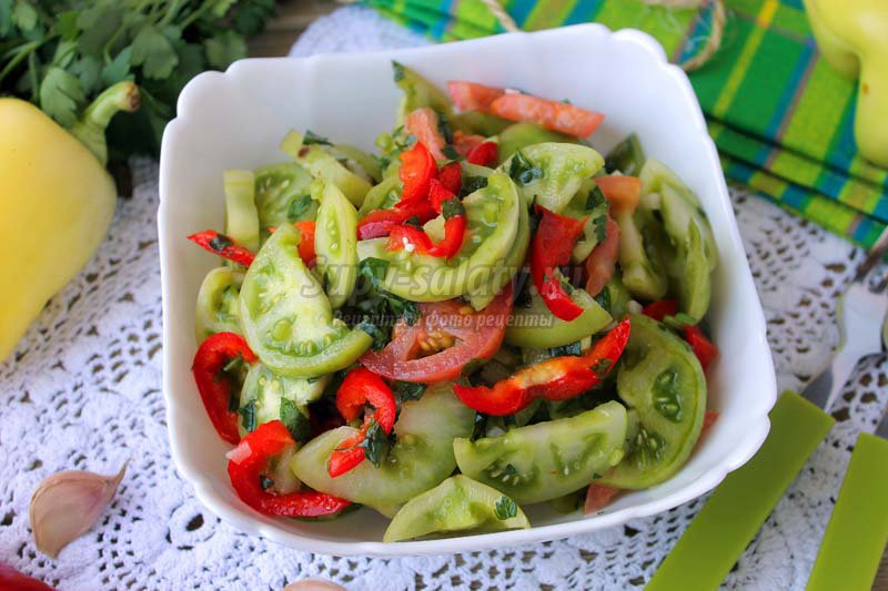 закуски из зеленых помидор рецепты