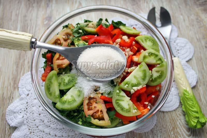 вкусная закуска из зеленых помидоров