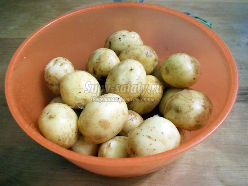 молодая картошка запеченная в духовке целиком рецепт