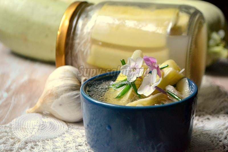 рецепт кабачки с чесноком