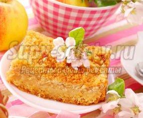 Пирог с творогом и яблоками: лучшие рецепты с фото