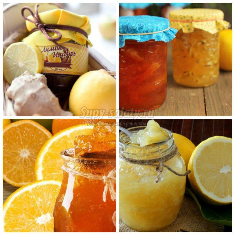 Отличные рецепты варенья из апельсинов и лимонов.