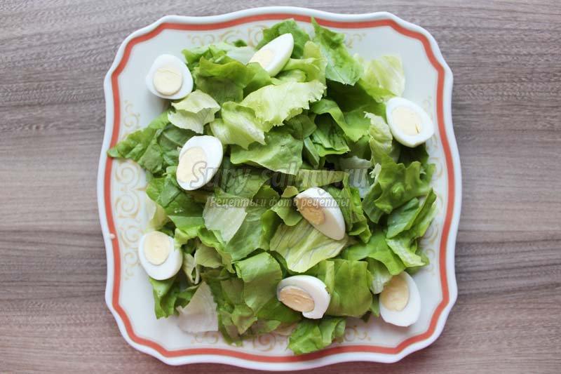 рецепт приготовления салат цезарь с креветками