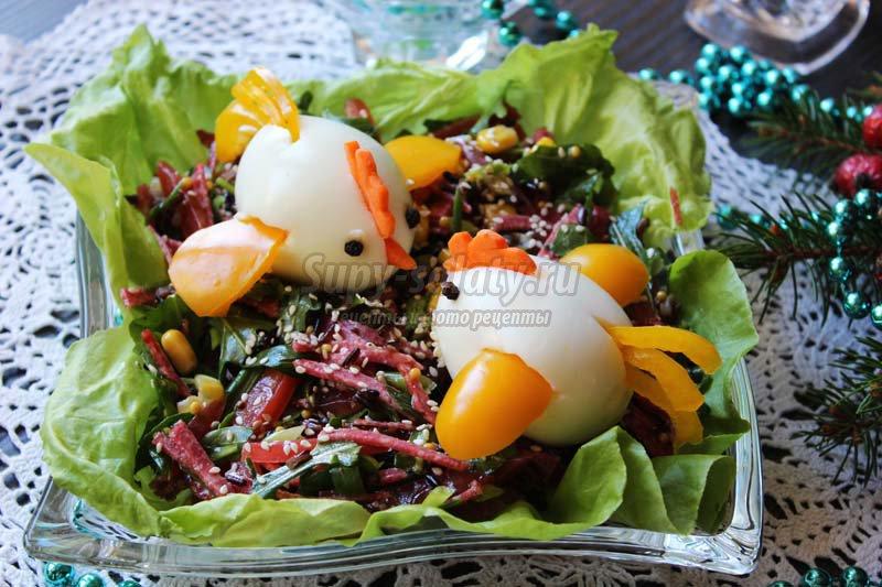 новогодний салат петушок 2017