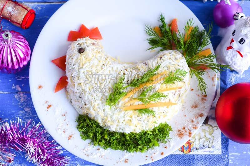 салат курица с грибами рецепт с фото