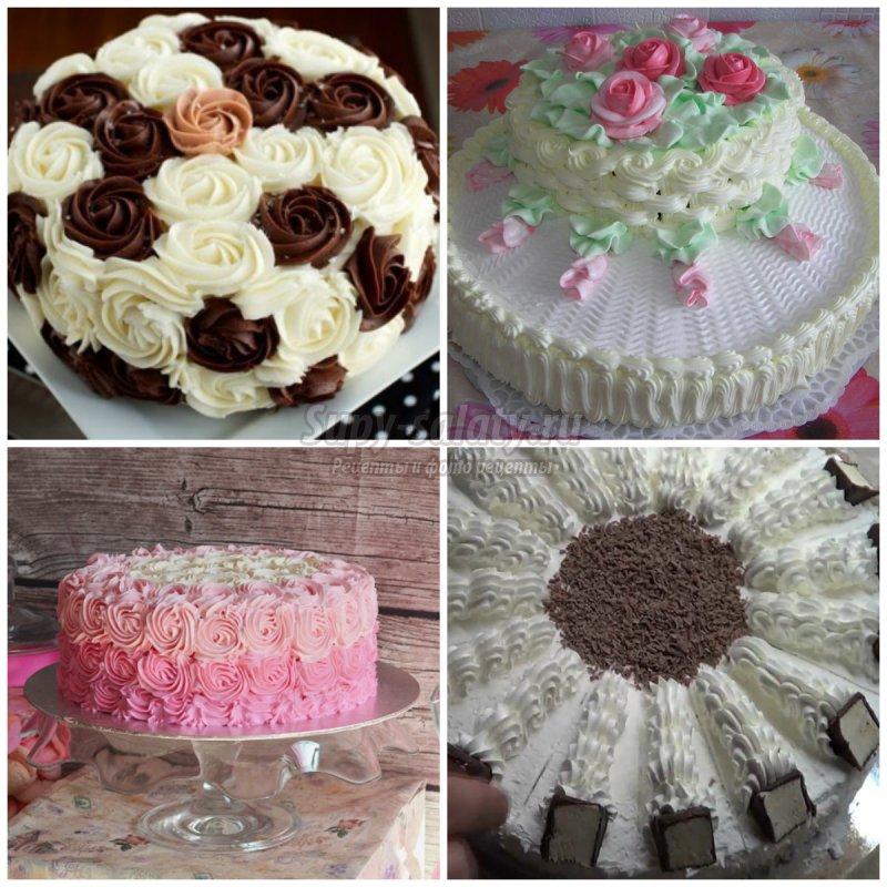 Каким кремом лучше украшать торт в домашних  177
