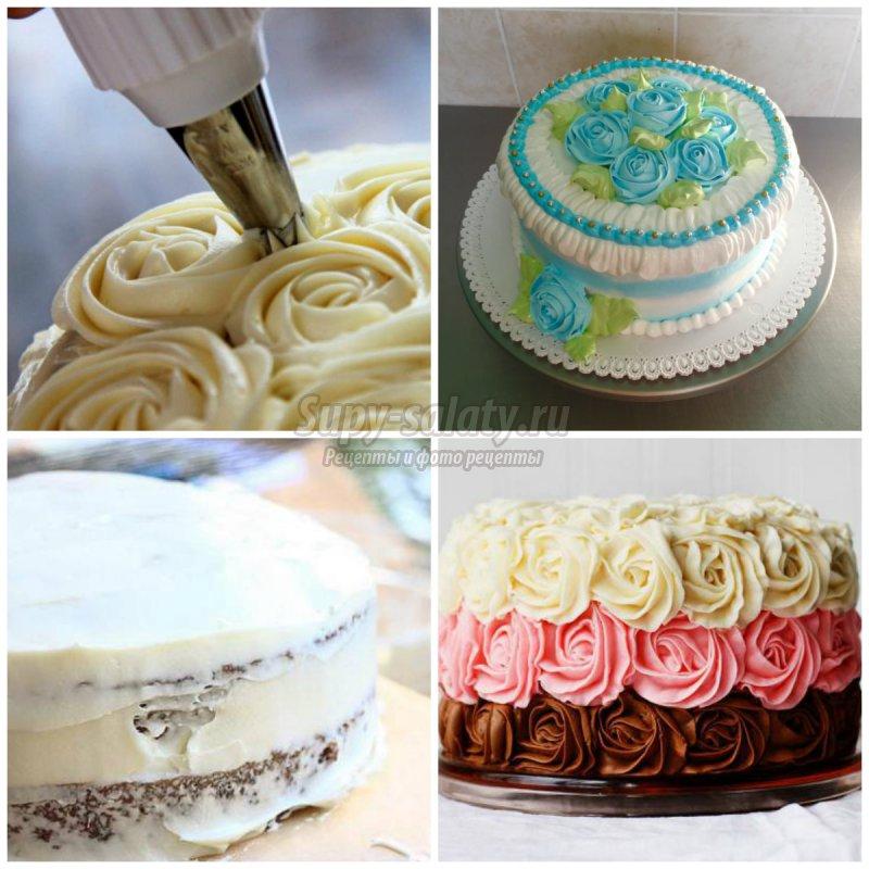 крем для украшения торта: золотые рецепты с фото